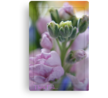 Think Pink...for breast cancer Canvas Print