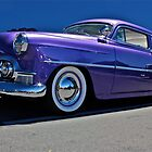 Purple Chevrolet Two Ten at night. by Ferenghi