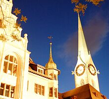 zurich church at night by MikeTheYokel