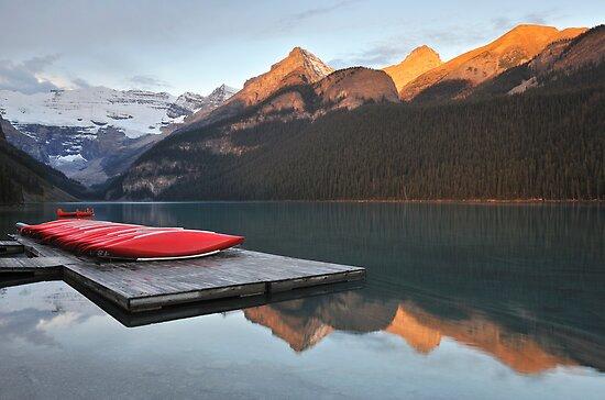 Lake Louise Jetty by Kasia Nowak