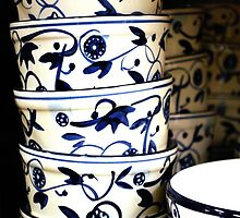Blue and White Bowls by Mattie Bryant