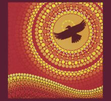 sun illuminating eagle spirit medicine t-shirt by Elspeth McLean