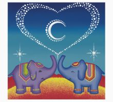 Elephant soul mates t shirt by Elspeth McLean