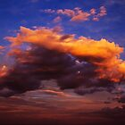 Fire Red Clouds, East Coast Australia by Paul Foley