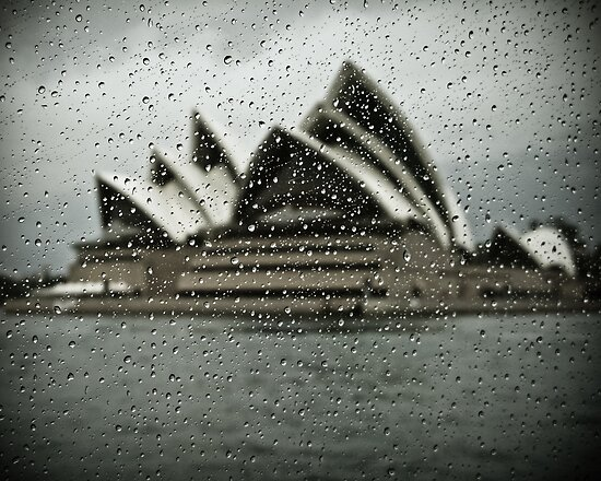 Sydney Opera House with Rain Spots by Paul Foley
