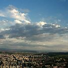 Deva - Romania panormaic view by farcaphoto