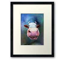 Colorful Cow Framed Print