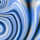 Blue Silk Swirls by Hugh Fathers