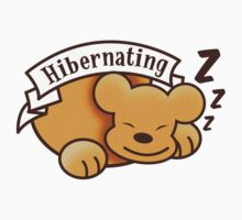 Hibernating cute sleeping bear ZZZ by jazzydevil