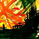 burning red junk.... inferno close up by banrai