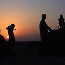 Behind the camels by Antonio Zarli
