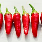 Red Chillies by Minna  Waring