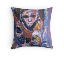 Seated in Stone Throw Pillow