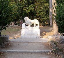 Heraldic lion at Pincio Hill, Rome  by Sunil Bhardwaj