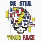 De Stijl Your Face (Girls T) by SheaClothing