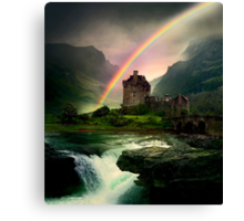 Rainbow Valley Castle Canvas Print
