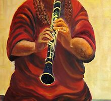 Cuban Clarinet jazz player by Racheli