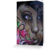 Graffiti Girl 2 Greeting Card