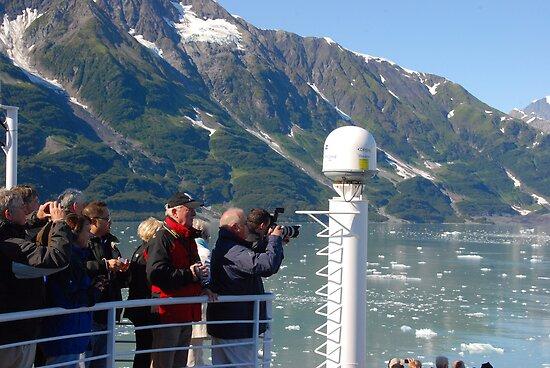 Photog Action - Hubbard Glacier by John Schneider