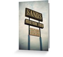 8000 miles USA : On the road 1 Greeting Card