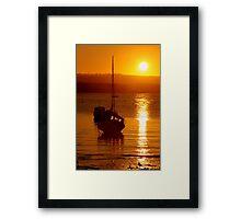 Skerries Harbour October Sunset  Framed Print