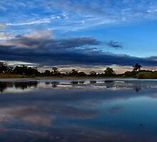 Bean Lake at dusk by Fortune8