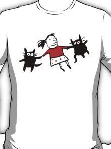 Happy Jumping Cats T-Shirt