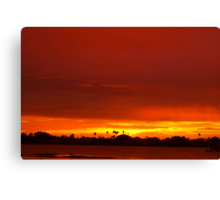 Crimson and amber world Canvas Print