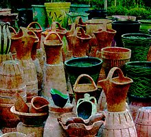 Turkish Terracotta Pots by Deb Gibbons