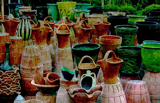 Turkish terracotta pots by deb gibbons redbubble for Terracotta works pots