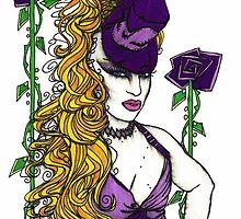 Violet Flowers by Lynette K.