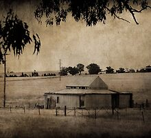Sepia Shearing Shed by garts