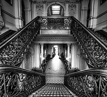 Grand hallway by Lois Romer