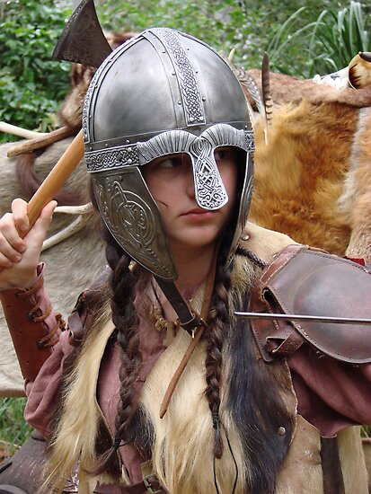 Dark Age Viking Warrior Woman by Maddy Storm
