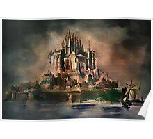 Mont Saint-Michel (1887 y) Poster