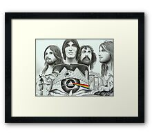 Pink Floyd Collage Drawing Framed Print