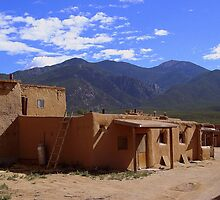 New Mexico, Taos Pueblo (Old Town) U.S.A. by David  Hughes