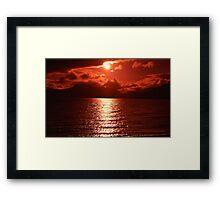 """ Summer sunset""   "" Scotland"" Framed Print"