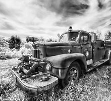 1956 Howe-International Fire Truck: B & W by chrisyfitzuk