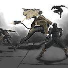 Tengu vs. Gekko by Redustheriotact