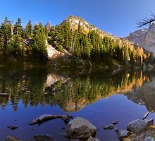 Blue Lake and Larches - Okanogan N. F. by Mark Heller