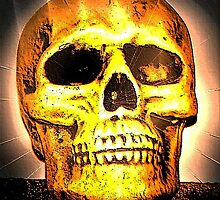 skull with effects by wolf6249107