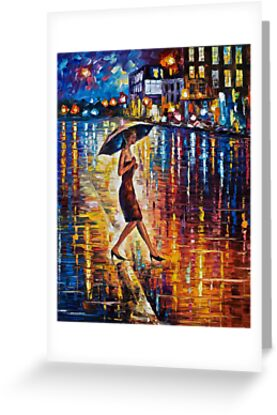 Late Return - original art oil painting by Leonid Afremov by Leonid  Afremov
