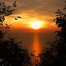 Sunset on sea by Luisa Fumi