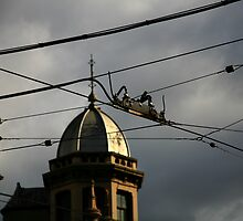 intersection. fitzroy, melbourne. by tim buckley   bodhiimages