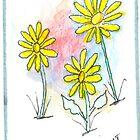 Springtime Daisy Floral by iceoriginals