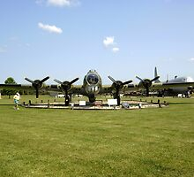 WW2 B17 Flying Fortress bomber plane by chris-csfotobiz
