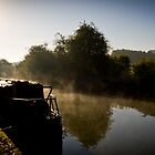 Misty Morning on the Canal No. 1 by Chris West