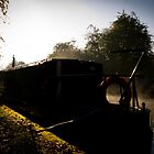 Misty Morning on the Canal No. 2 by Chris West