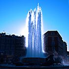 Fountain at Nice south France by Graham Southall